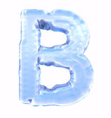 Ice font. Letter B. Upper case, isolated on white background — Stock Photo