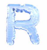 Ice font. Letter R. Upper case, isolated on white background — Stock Photo