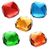 Conjunto de gemas de colores — Foto de Stock