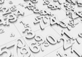 Numbers — Stock Photo