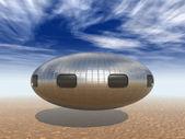 UFO landing — Stock Photo
