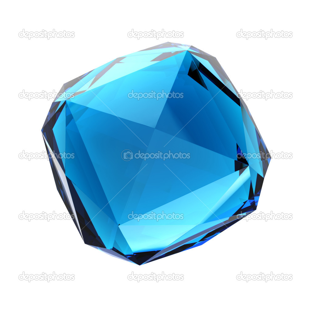 Blue gemstone - isolated on white background — Stock Photo #10558617