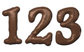Chocolate number — Stock Photo