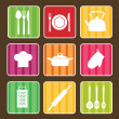 Royalty-Free Stock Vector Image: Set of kitchen icons.vector illustration