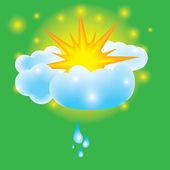 Summer design elements sun clouds — Stock Vector