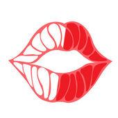 LipsOpen — Stock Vector