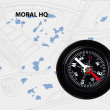 Moral compass — Stock Photo