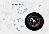 Morální kompas — Stock fotografie