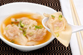 Wonton Soup — Stock Photo