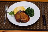 Pork Chop Dinner — Stock Photo
