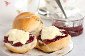 Cornish cream tea — Stock Photo