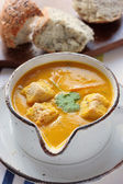 Carrot and coriander soup — Stock Photo