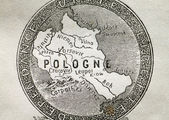 Old Map of Poland, macro — Stock Photo