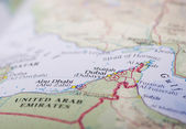 Abu Dhabi And Dubai Map — Stock Photo