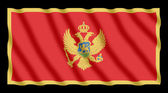 Montenegro flag, isolated on black background with clipping path — Stock Photo