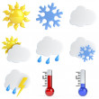 3d Weather Icons — Stock Photo #10446711