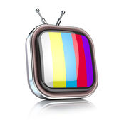 Retro TV icon — Stock Photo