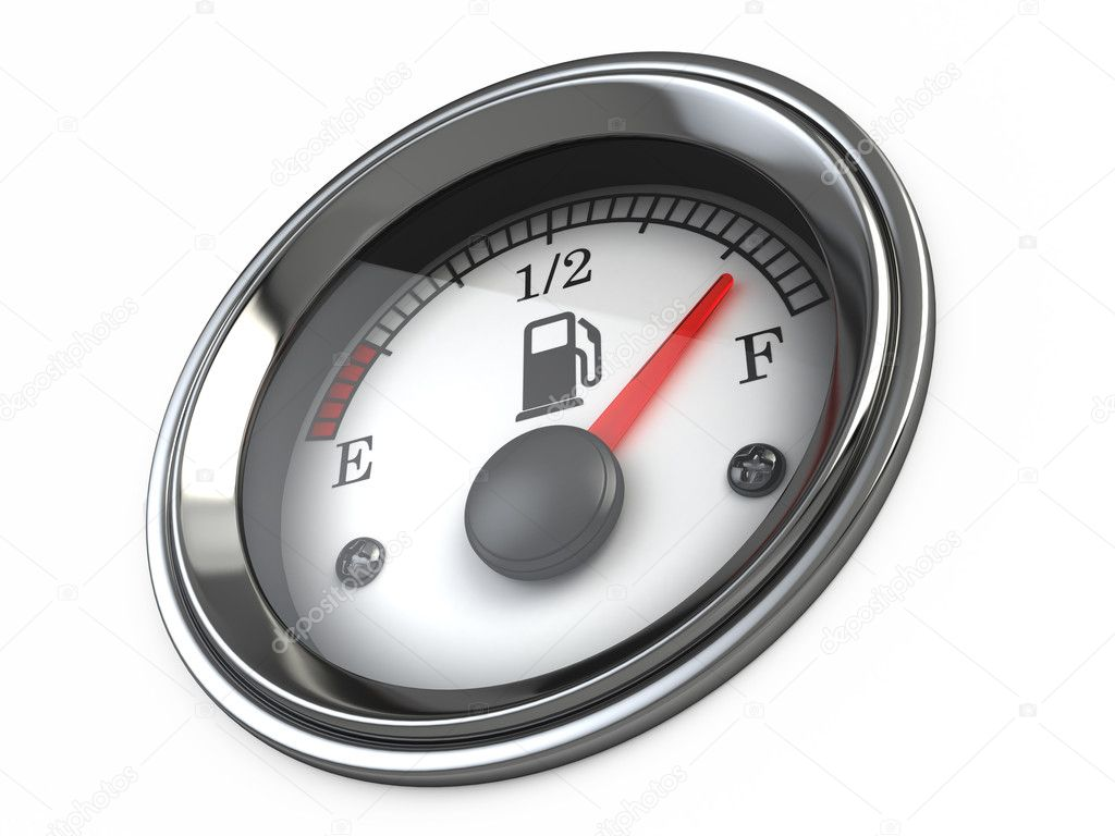 Fuel gauge — Stock Photo #10541391