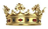 Zlatá královská koruna — Stock fotografie