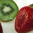 Stock Photo: Fresh sliced ​​kiwi with strawberries