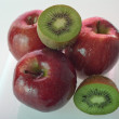 Kiwi ripe red apples — Stock Photo #10670192