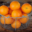 Oranges in a basket — Stock fotografie