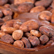 Stock Photo: Cocobeans in wooden bowl