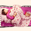 Girl sleeping in a bed — Stock Photo #10557713