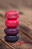 Macaroons on a wooden table — Stock Photo