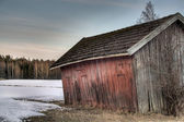 Old red barn — Stock Photo