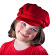 Young girl with a red hat — Stock Photo #10619762