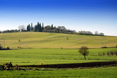 Tuscany farmland — Stock Photo