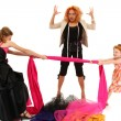 Angry Spoiled Pageant Girls Fighting Over Dress Designer - Stock Photo