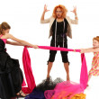 Angry Spoiled Pageant Girls Fighting Over Dress Designer — Stock Photo