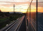 The train journey — Stock Photo