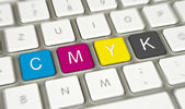 Cmyk Keyboard — Stock Photo