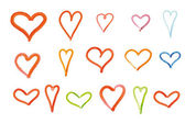 Different drawing hearts — Stock Photo