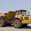 Stock Photo: Large Yellow Dump Truck