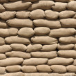 Tan Sandbag Detail in Direct Sunlight — Stock Photo