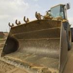 Yellow wheel loader — Stock Photo