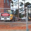 Construction Area Danger Sign — Foto Stock