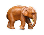 Wooden statuette of elephant — Stock Photo