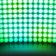 ストック写真: Green Dance Disco Lights Stage Background