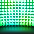 图库照片: Green Dance Disco Lights Stage Background