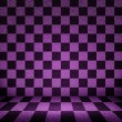 Violet Chessboard Room Background — Stock Photo