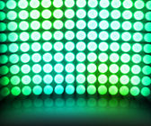 Green Dance Disco Lights Stage Background — Stock Photo
