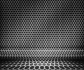 Steel Metal Hex Grid Background — Stock Photo