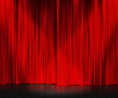 Red Curtain Stage Background — Stock Photo