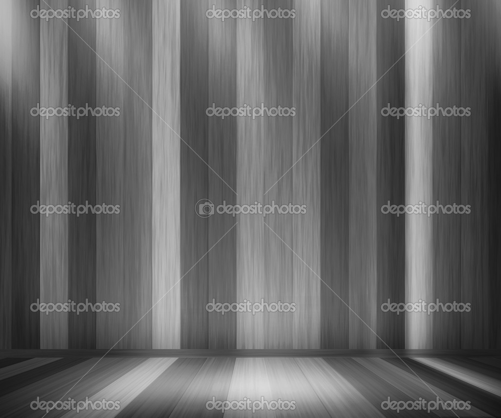Gray Wooden Panels Room — Stock Photo #10631279