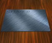 Zilverplaatje — Stockfoto
